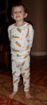 Jack in his New Jammies Fruits & Veggies Organic Carrot Pajamas