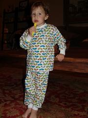Jack loves cars and cars on pajamas is even better!