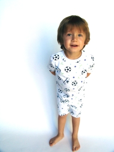 Jack in New Jammies Organic Soccer Short Set Pajamas