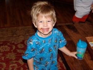 Jack last year in Skivvydoodles Police Short Pajamas