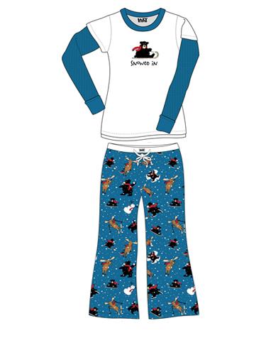 Lazyone Snowed In Women Pajamas 455b25525