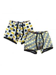 Claesen's Yellow Dot Boys 2 Pack Boxer Set