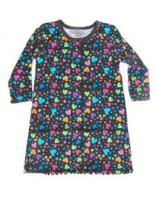 Skivvydoodles Brown Hearts Nightgown