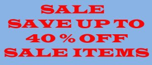 Save up to 40% off Sale