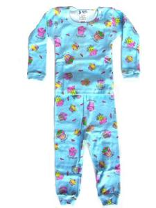 At Home Blue Cupcake Pajamas