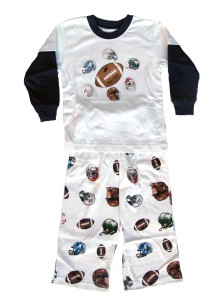 Wes and Willy Football Helmet Pajamas for Boys