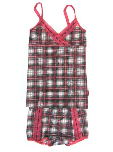 Claesen's Red Checks Cami and Boxer Set