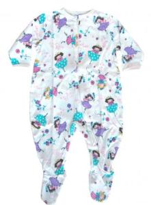 Skivvydoodles Little Princess Footie Pajamas