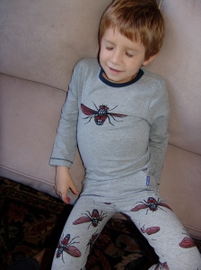 Sleeping in Claesen's Small Fly Long John Pant and Tee Set for Boys
