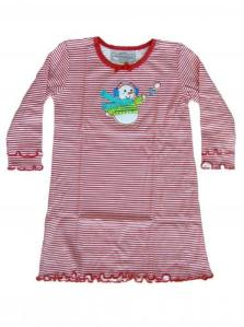 Skivvydoodles Red Stripe Applique Christmas Nightgown