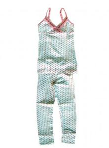 Claesen's Dots Eyelet Cami and Long John Pajama Set for Girls
