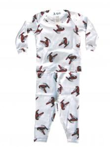 At Home Lobster Lap Neck Pajamas
