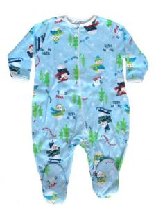 Skivvydoodles Blue Snow Daze Footie Pajamas