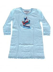 skivvydoodles blue stripe applique nightgown