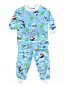 Skivvydoodles Blue Snow Daze Pajamas for Boys and Girls
