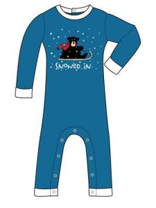 Lazyone Snowed In Infant Pajamas for Boys and Girls