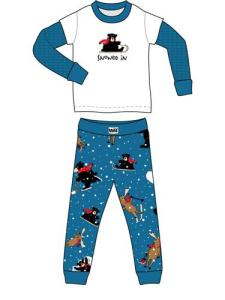 Lazyone Snowed In Kids Pajamas for Boys and Girls