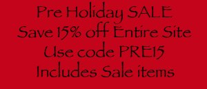 Pre Holiday Thanksgiving SALE