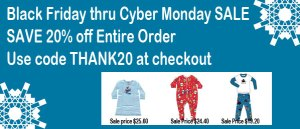 Black Friday through Cyber Monday Pajama Sale