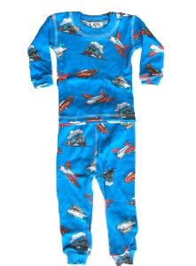 At Home Trains and Planes Pajamas for Boys