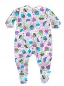 Skivvydoodles Sweet Cupcake Footie Pajamas