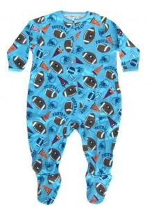 Skivvydoodles Football Footie Pajamas