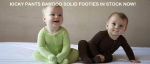 Kicky Pants Bamboo Solid Footies