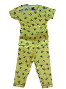 Kicky Pants Spring Grass Starfish Pajamas