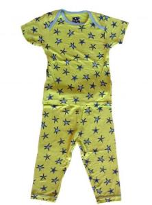 Kicky Pants Spring Grass Starfish Pajamas