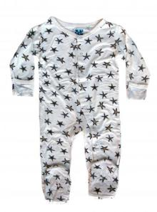 Kicky Pants Bamboo Natural Starfish Footie Pajamas