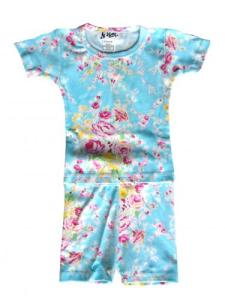 At Home Cabbage Rose Short Pajamas for Girls
