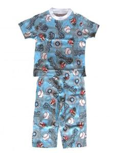 Skivvydoodles Baseball Short Sleeve Pajama Set for Boys