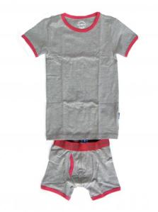 Claesen's Grey Melange Tee and Boxer Set for Boys