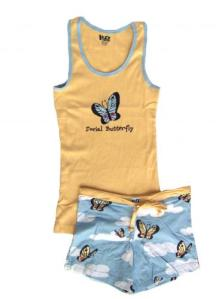 Lazy One Social Butterfly Junior Tank and Boxer Set