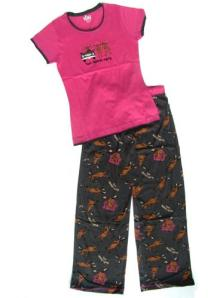 LazyOne Text Moose-Aging Junior Pajamas for Women