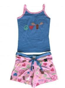 Lazy One Peace, Love and Moose Tween Pajama Set