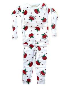 New Jammies Organic Apples Pajamas