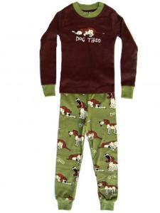 Lazy One Dog Tired Green Pajamas