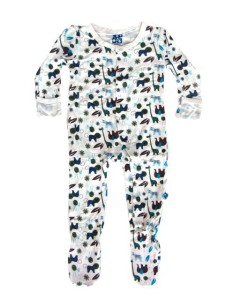 Kicky Pants Bamboo Boy Multi Animal Footie Pajamas