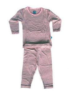 Kicky Pants Natural Stripe L/S Pajama Set