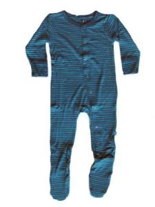 Kicky Pants Bamboo Twilight Stripe Footie Pajamas