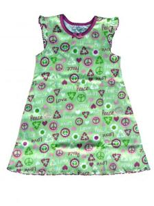 Skivvydoodles Love and Peace Nightgown for Girls
