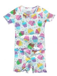 Sara's Prints Cupcake Short Pajamas for Girls