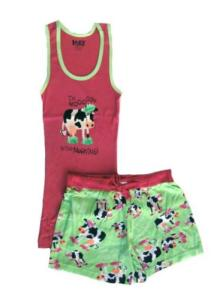Lazy One Mooody in the Morning Women's Tank and Boxer Set