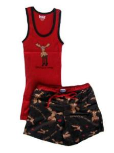 Lazy One Chocolate Moose Women's Tank and Boxer Set