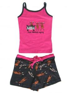 Lazyone Text Moose-Aging Tween Short Pajamas Set