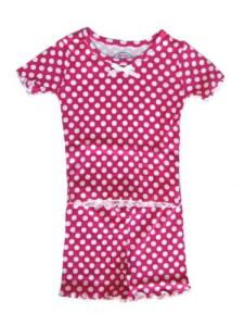 Sara's Prints Pink Dots Short Pajamas for Girls