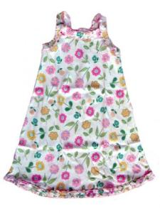 Sara's Prints Fresh Flowers Ruffle Tank Nightgown