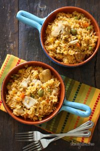 Mom's Spanish Chicken and Rice