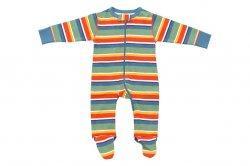Sweet Peanut City Grid Organic Footie Pajamas